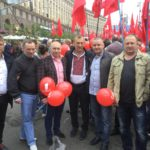Олександр Сугоняко на демонстрації в Міжнародний день солідарності трудящих